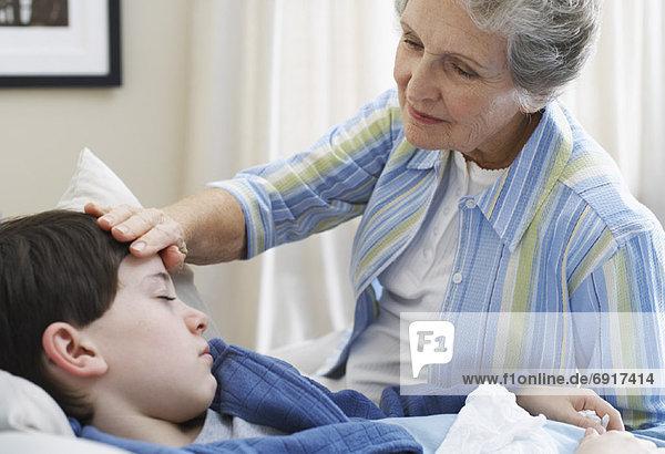 Zuneigung  Krankheit  Großmutter  Enkelsohn