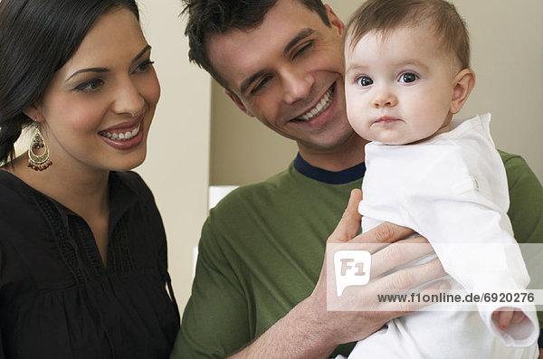 Portrait  Menschliche Eltern  Baby