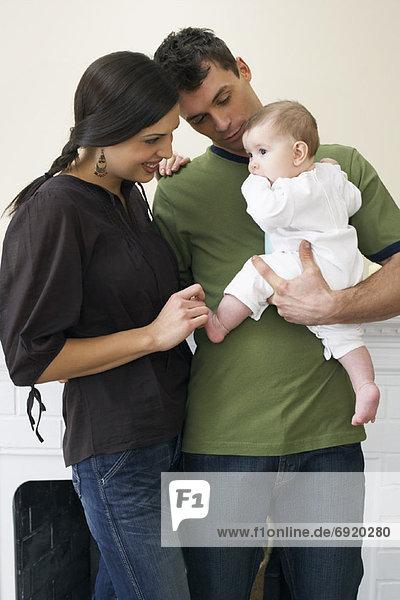 Portrait , Menschliche Eltern , Baby