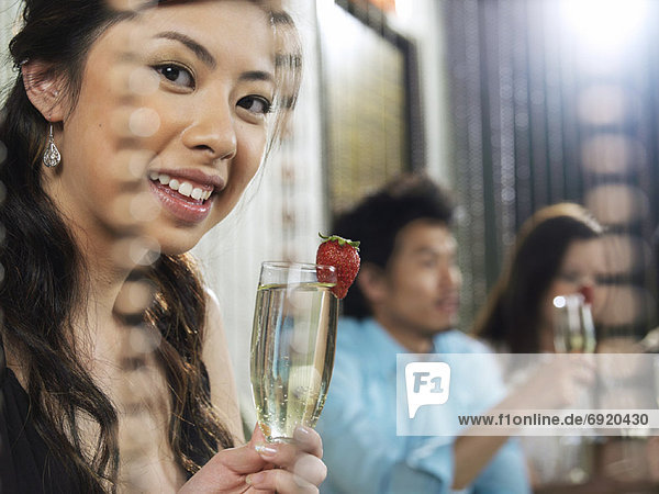 Portrait  Erdbeere  Champagner