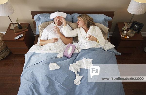 Krankheit  Bett
