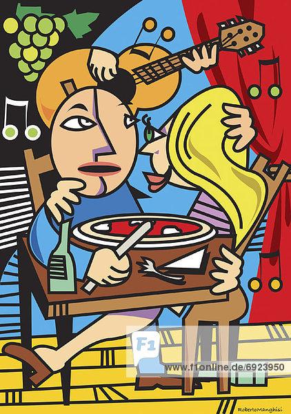 Illustration  Restaurant