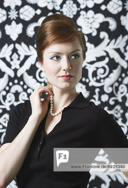 Portrait of Woman in Vintage Clothing