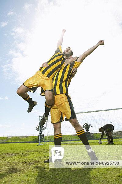 jubeln Spiel Fußball
