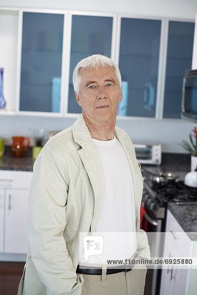 Portrait  Mann  Küche