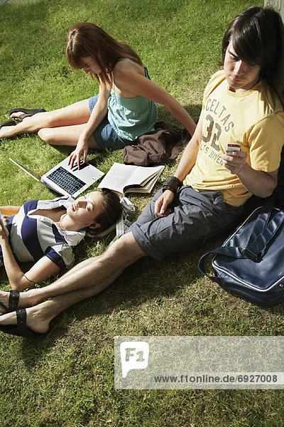 Außenaufnahme  Student  freie Natur