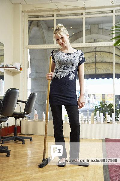 Frau  arbeiten
