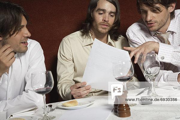 Geschäftsmann Restaurant Tisch