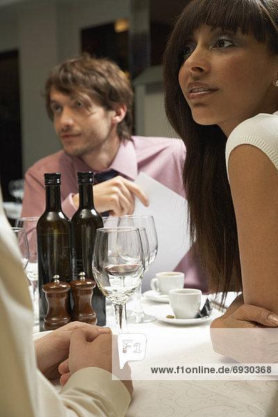 Mensch  Menschen  Geschäftsbesprechung  Restaurant  Besuch  Treffen  trifft  Business