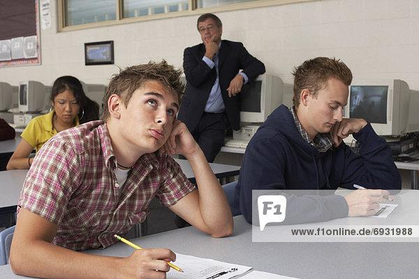 sehen  nehmen  Prüfung  Lehrer  Student