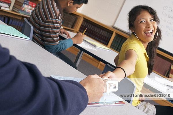passen  Klassenzimmer  Student