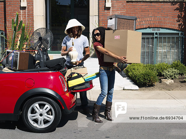 Auto verpacken Eigentum voll