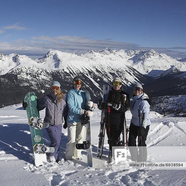 Portrait Hügel hoch oben Ski