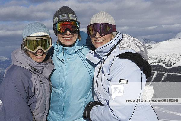 Portrait  Frau  Hügel  Ski  3  Kanada