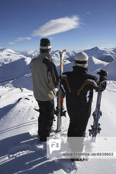 Mann  Hügel  hoch  oben  Ski  2  Kanada