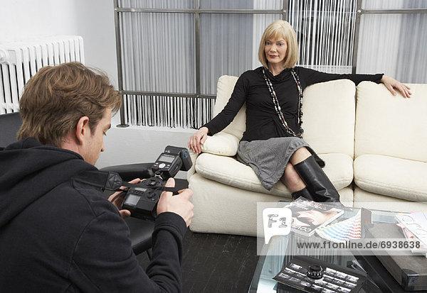 Geschäftsfrau  Fotografie  nehmen  Fotograf