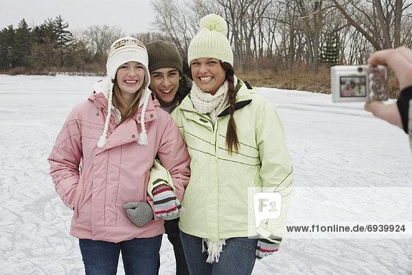 Friends Having Picture Taken