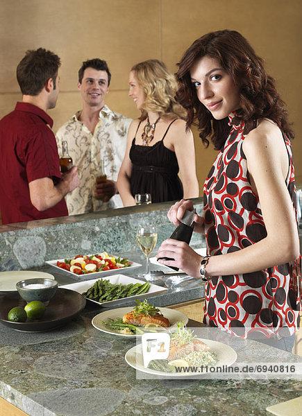 Abendessen Freundschaft Party