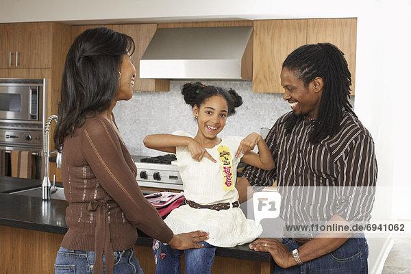 Menschliche Eltern Band Bänder Tochter