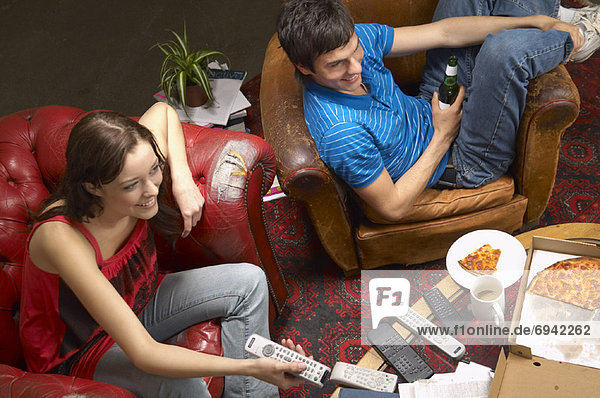 Mensch  sehen  Menschen  Fernsehen