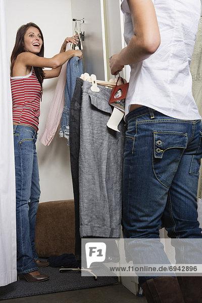 Frau  Kleidung  Laden