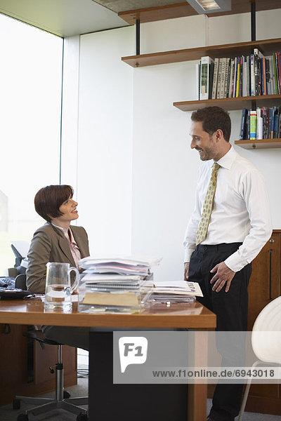 Frau Mann Büro