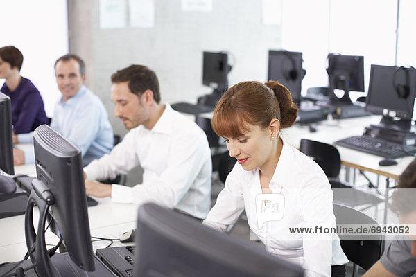 Computer  Mensch  Büro  Menschen  arbeiten  Business