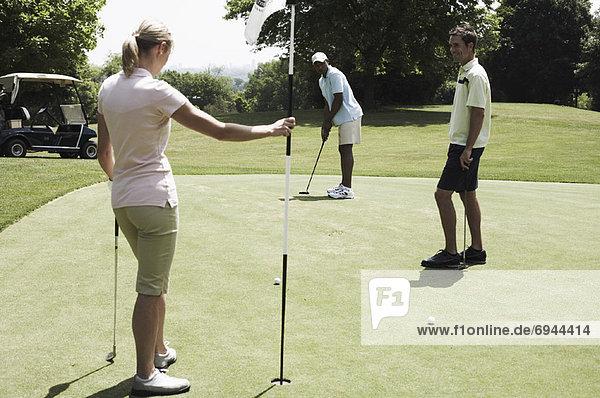 Golfer setzen