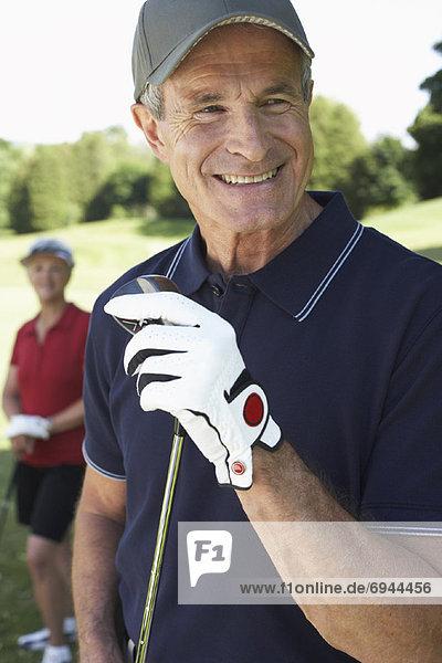 Portrait  Golfspieler