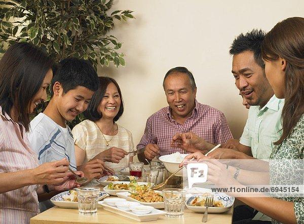 Familie Restaurants zusammen