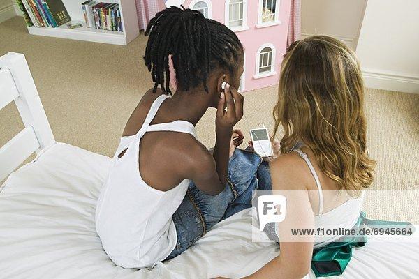zuhören Spiel MP3-Player MP3 Spieler MP3 Player MP3-Spieler Mädchen