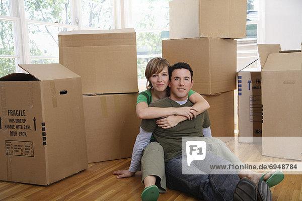 Bewegung Eigentumswohnung neues Zuhause