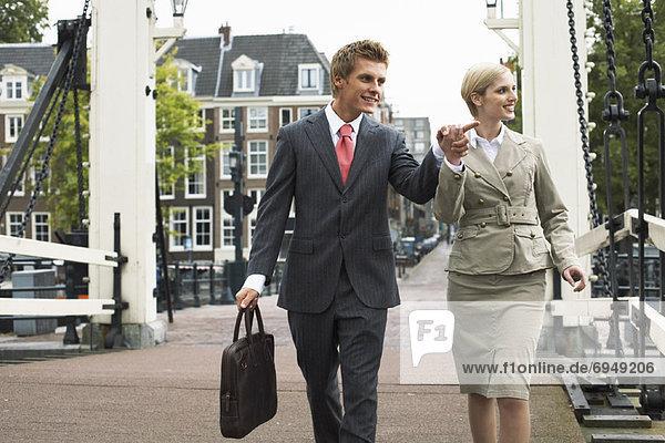 Business People Walking Together  Amsterdam  Netherlands