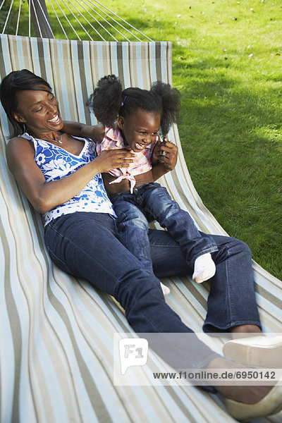 Mother and Daughter on Hammock