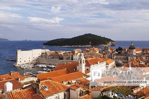 Old City of Dubrovnik and Lokrum Island  Croatia