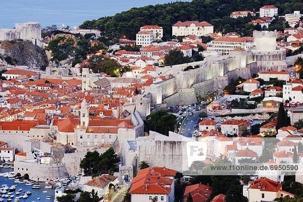 Morgendämmerung  Großstadt  Kroatien  Dubrovnik  alt