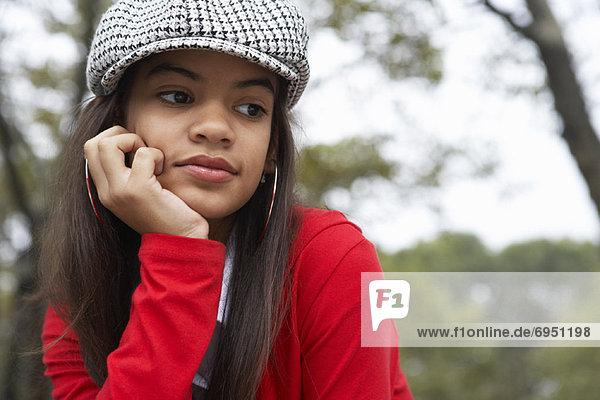 Portrait of Teenaged Girl