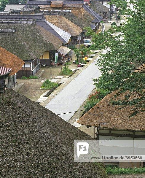 hoch oben Gebäude Ansicht Flachwinkelansicht Winkel japanisch alt