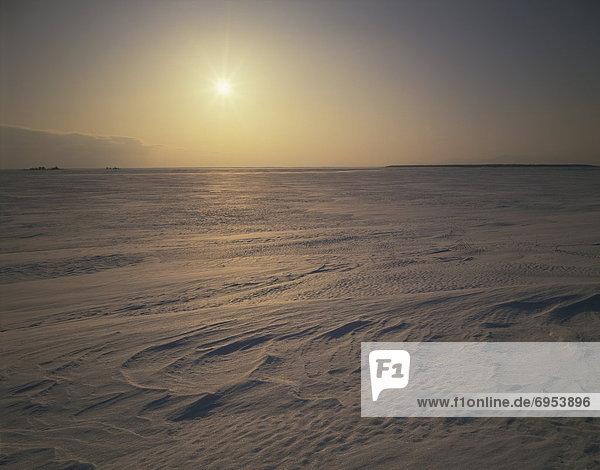 Schnee  Feld  Abenddämmerung  Hokkaido  Japan  Nemuro