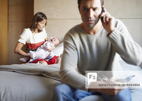 Menschliche Eltern  Krankheit  Baby
