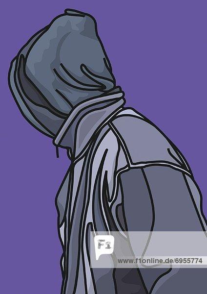 Mann  Illustration  Kapuzenjacke
