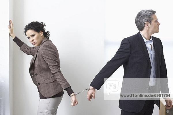 Zusammenhalt  Geschäftsfrau  Geschäftsmann