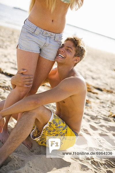 Teenage Couple on Beach