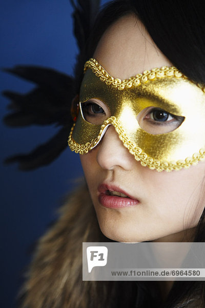 Portrait  Frau  Kleidung  Maske