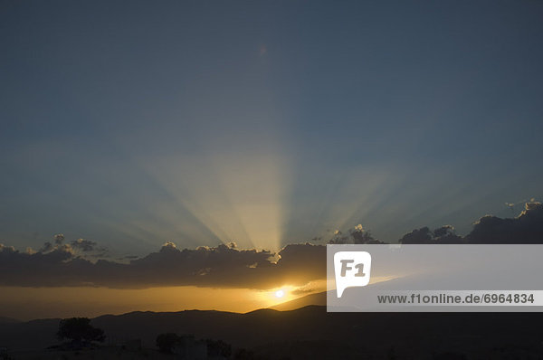 Sonnenuntergang  Andalusien  Spanien