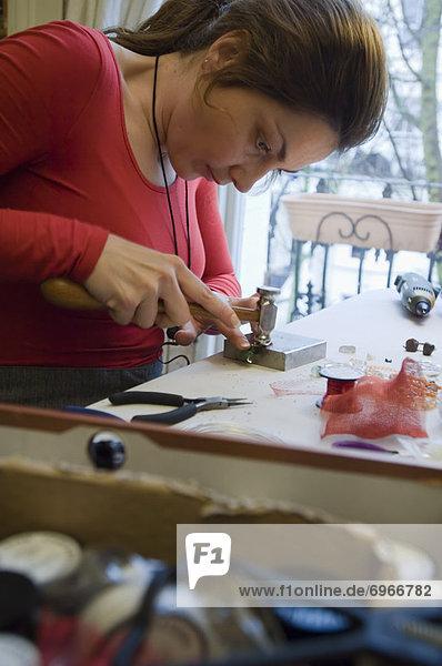 Craft Jeweller at Workbench