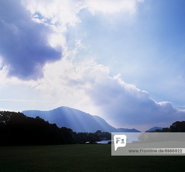 Clouds Over Mountains And Lake  Ring Of Kerry  Upper Lake  Killarney  County Kerry  Republic Of Ireland