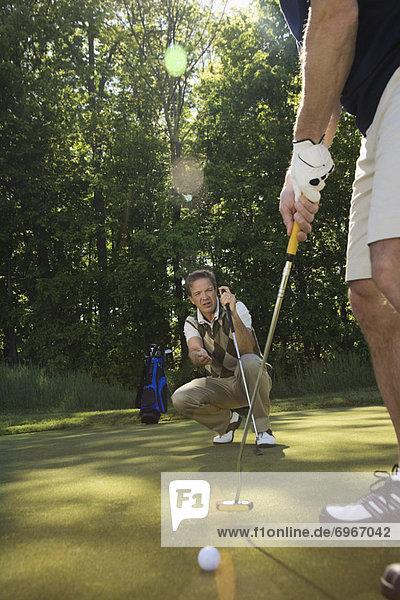 geben  Golfspieler  Rat