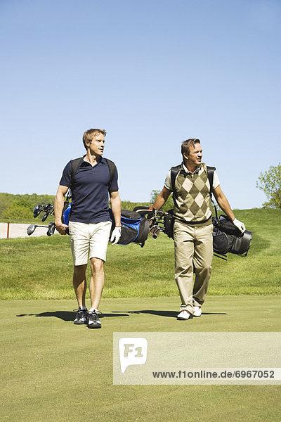 Golfer auf dem Golfplatz