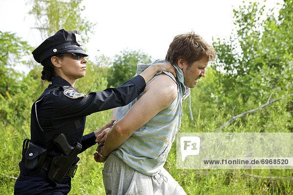 Festnahme  Offizier  Polizei